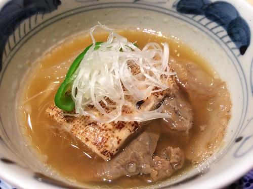 尾崎牛のバラ肉と焼き豆腐の炊きもの@西麻布 けんしろう