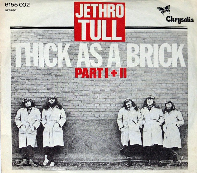 "Jethro Tull - Thick as a Brick Germany 12"" Vinyl LP"