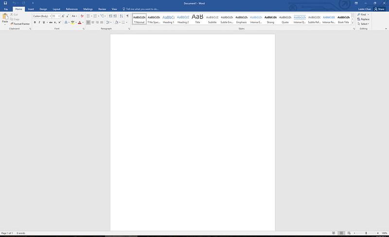 Word – Microsoft Office 2016 For Windows