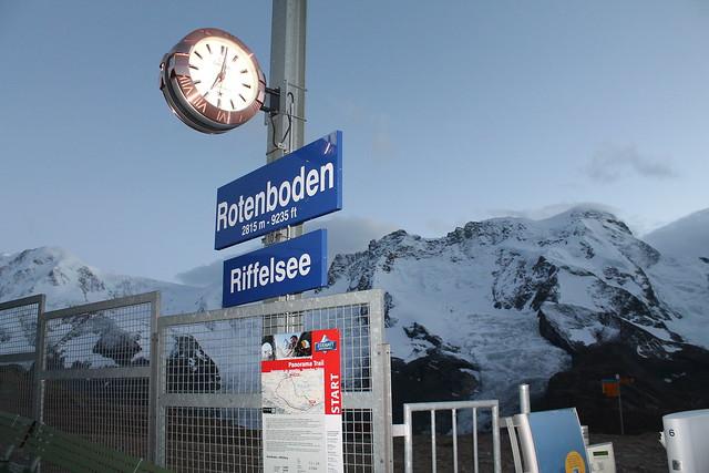 rotenboden train stop gornegrat bahn
