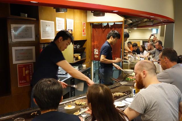 Making Okonomiyaki