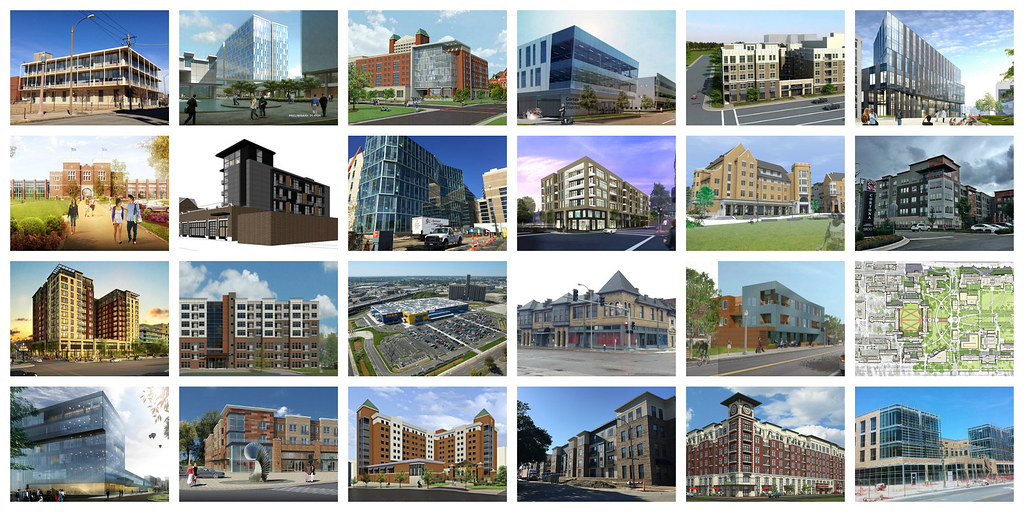 Building boom collage