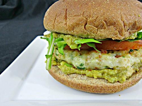Cilantro Shrimp Burger