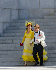 Yellow Bride with Groom