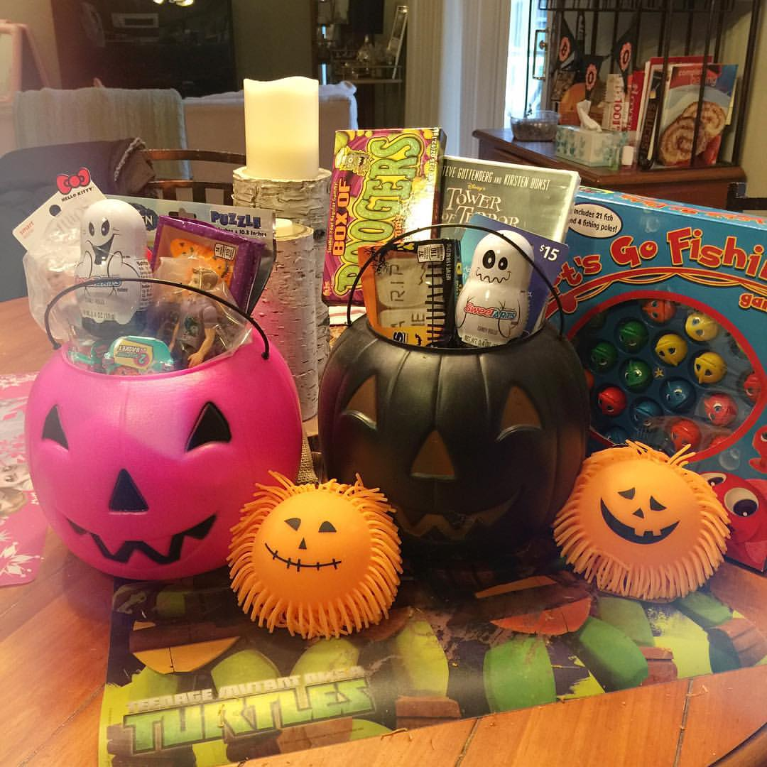 What I'm doing now... #widn - getting the kids little Halloween 'treats' and gifts together! I do this every year... They love waking up to these surprises on Halloween! Thanks for tagging me @acupfullofsass and @beauteefulliving ! I tag @thepreppystrawbe