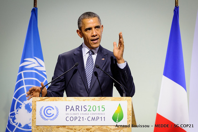 Photo of President Obama COP21