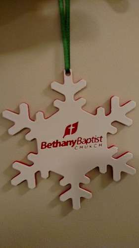 3D Printing - Snowflake Ornament for Bethany Baptist