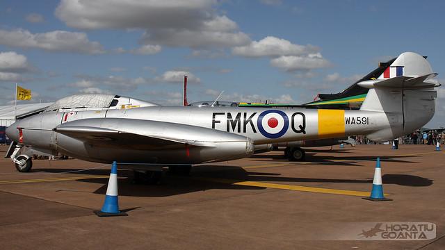 Gloster Meteor T7 G-BWMF (WA591, FMK-Q) RAF | RIAT 2015