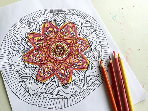 Stephanie's Mandala Coloring Page
