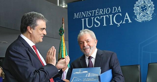 Ministro da Justiça Cardozo e Lula