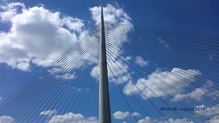 Ada Bridge, Sava river, Belgrade, Serbia, August 2014; Most na Adi, Beograd, Srbija, avgust 2014 godine