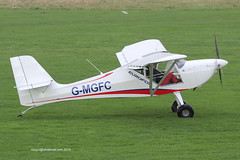G-MGFC - 2012 build Aeropro Eurofox, shortly after vacating Runway 08L on arrival at Barton