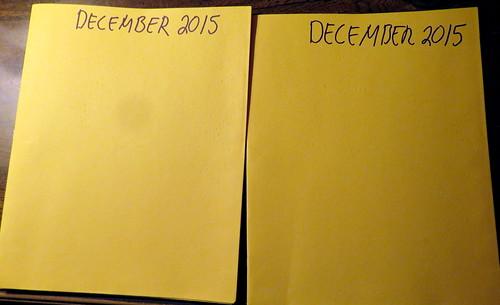 December 2015 Diary