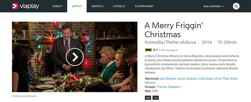 Katso A Merry Friggin' Christmas. Elokuvat netissä - Viaplay.fi - Google Chrome 30.11.2015 95834.bmp
