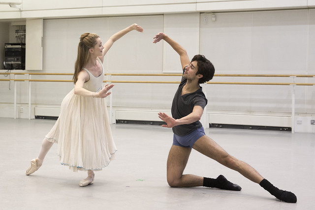 Anna Rose O'Sullivan and James Hay in rehearsal for The Nutcracker, The Royal Ballet © 2015 ROH. Photograph by Andrej Uspenski
