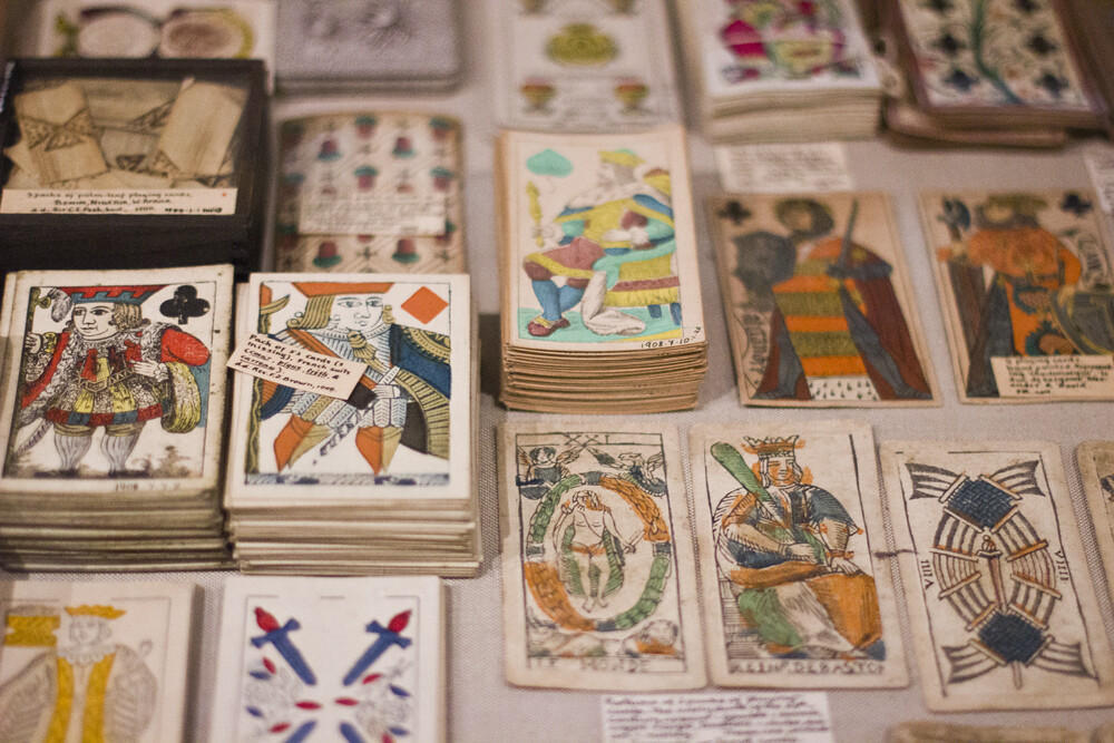 playing cards decorative pitt rivers museum oxford anthropology history culture