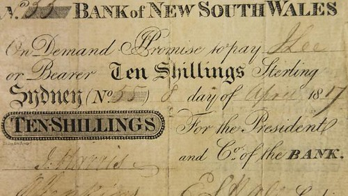 First banknote of New South Wales front
