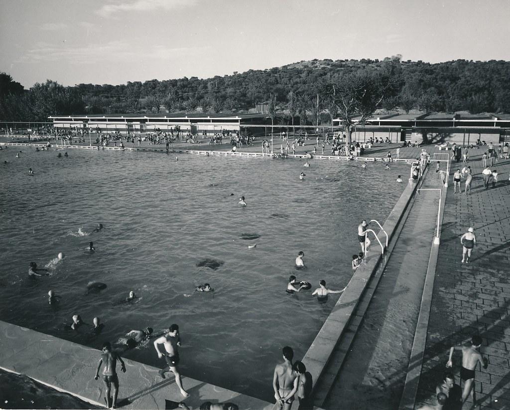 Parque Sindical Piscina Madrid Madrid 1962 Procedencia Flickr