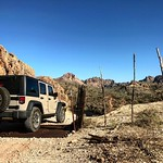 Enjoying the beautiful desert 🌵☀️ #theadventuresofsandythejeep #sandythejeep by bartlewife