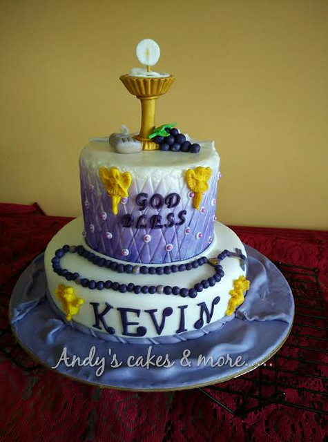 Communion Cake by Asha Dsouza of Andy's cakes & more