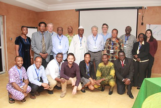 Members of the African Chicken Genetic Gains project's Scientific and Industrial Advisory Committee and the wider team