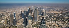 Skyline view Dubai in the United Arab Emirates