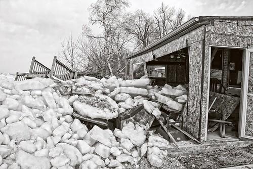 Ice Shove:  Lake Winnebago, Wisconsin