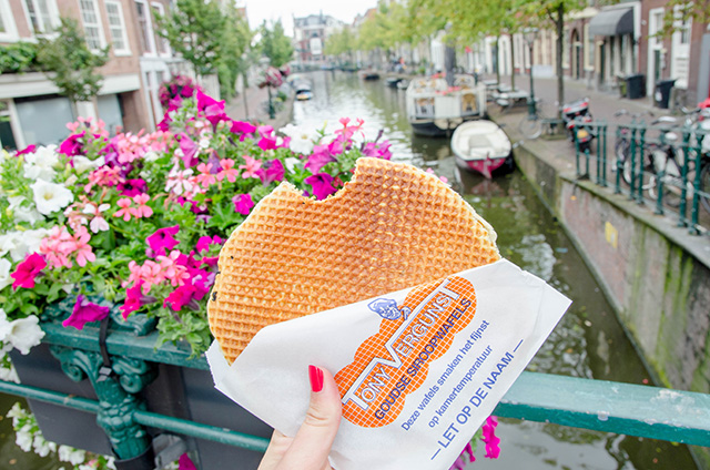 Stropwaffels, comida típica de Holanda.