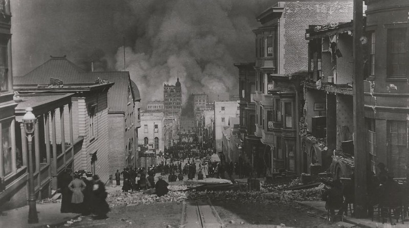 Photo of 1906 San Francisco earthquake, by Arnold Genthe
