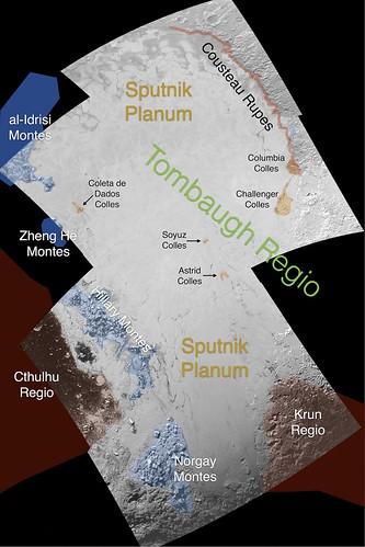 VCSE - Mai kép - Pluto színesben Tombaugh-régió