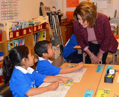 Congresswoman Pelosi Highlights Kindergarten to College at Monroe Elementary