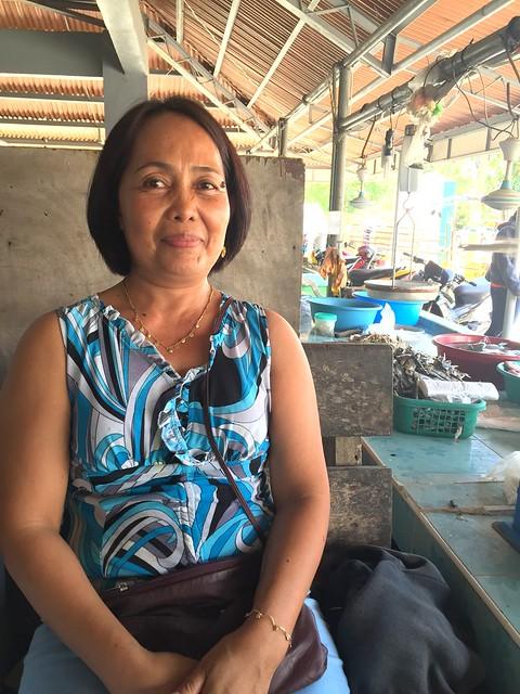 Tabango local market vendor Loreta E. Daloso