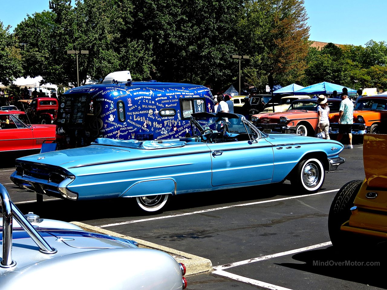 Lead East Blue Buick Convertible