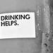 DRINKING HELPS by Akbar Sim