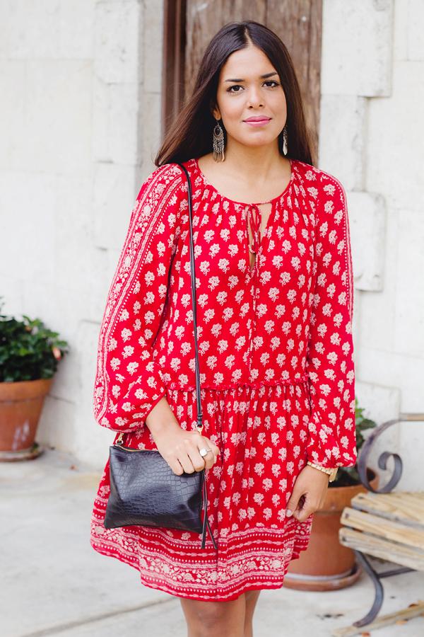 Boho Red Dress