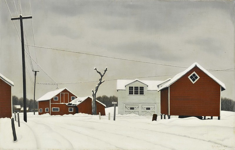 George Copeland Ault - Daylight at Russell's Corners (1944)