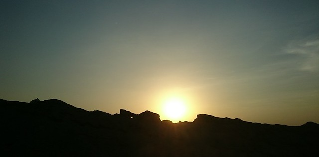 sunset jebel hafeet