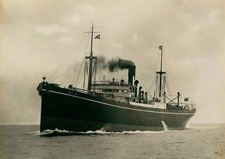 The cargo ship 'Min' on sea trials