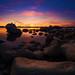 Bonsai Rock in Lake Tahoe at Dusk by Tom.Bricker