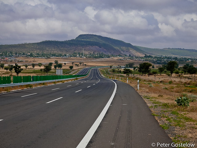 Empty Expressway to Nazrat