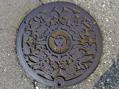 Uozu Toyama, manhole cover 2 (富山県魚津市のマンホール2)