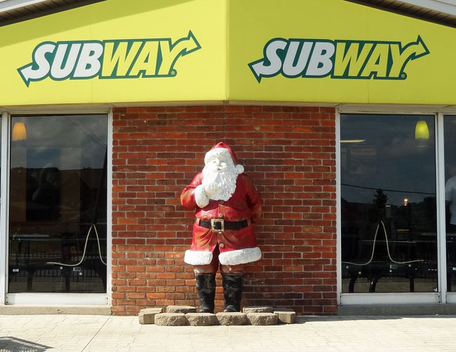 santa claus indiana restaurants - subway