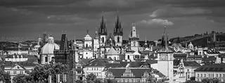 Prague Spires from Petrin Gardens