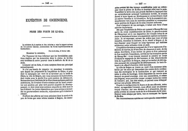 P546-547 EXPÉDITION DE COCHINCHINE - Prise des Fortes de Ki-Hoa