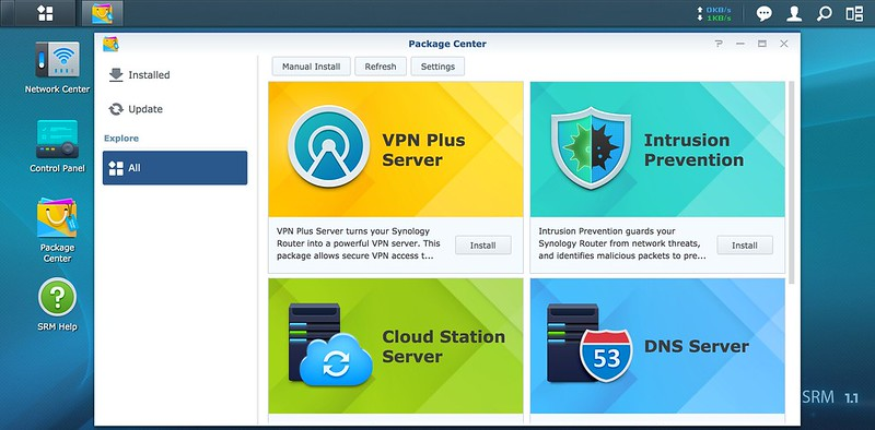Synology SRM - Package Center
