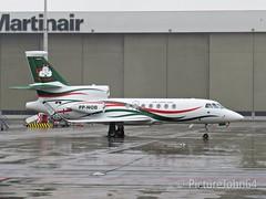 "Nobre Empreendimentos Dassault Mystere Falcon 50 (PP-NOB) ""Air Pork One"" at Schiphol East"