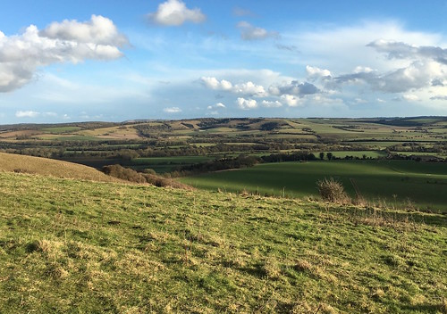The Meon Valley, with Old Winchester Hill behind