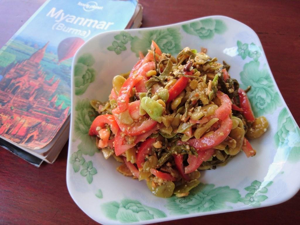 Tea Leaf Salad, Marie Min Vegetarian Restaurant, Mandalay