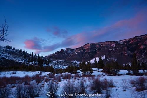 colorado maloitpark sunset winter