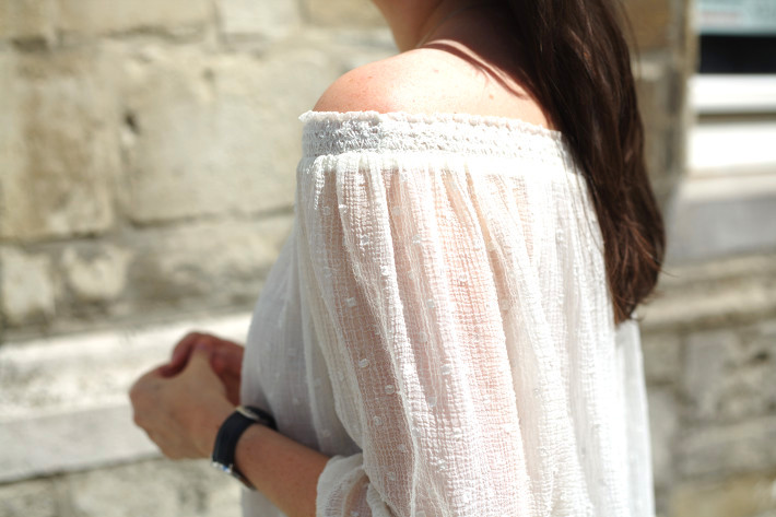 Sheer off the shoulder top